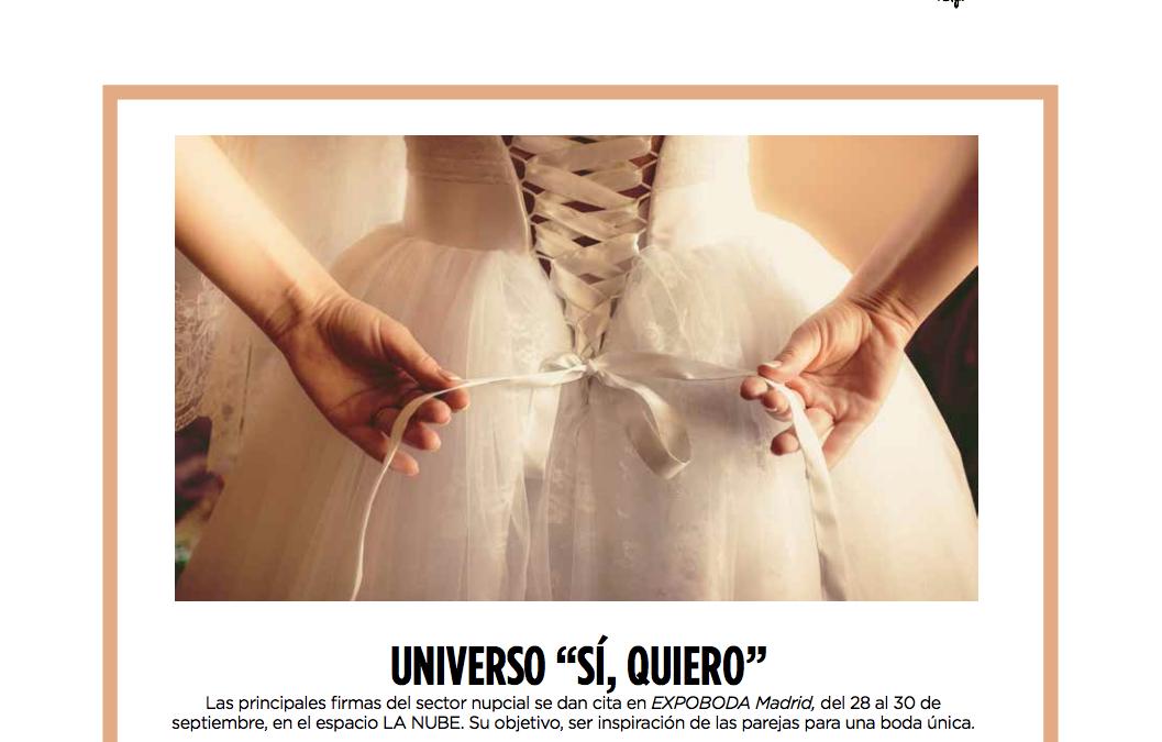 """UNIVERSO """"SÍ, QUIERO"""" Por Amalia Alonso"""